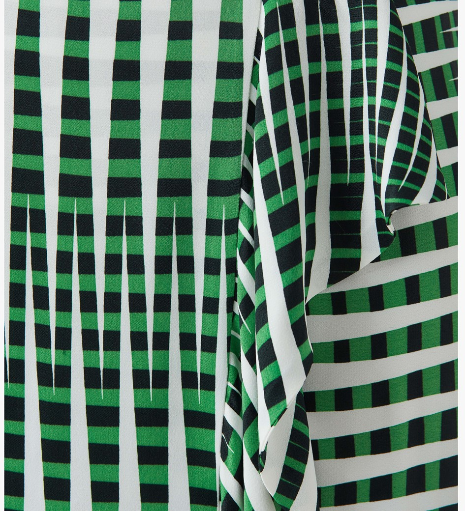Lisson Printed Satin Wrap Skirt