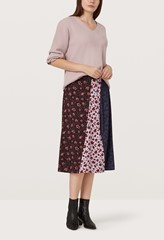 Veronica Mixed Print Skirt