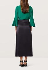 Rose Matte Black Wrap Skirt