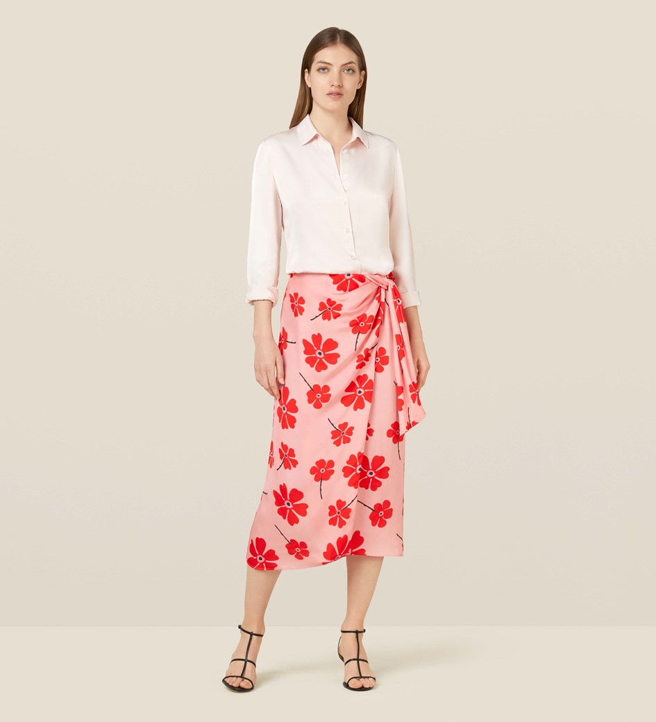 Ida Floral Knot Detail Skirt