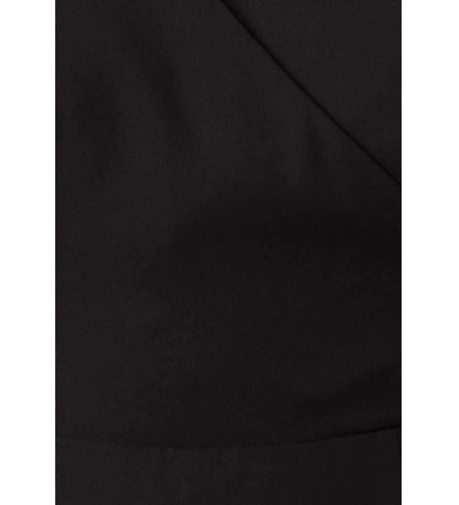 Gordon Black Crepe Wrap Dress