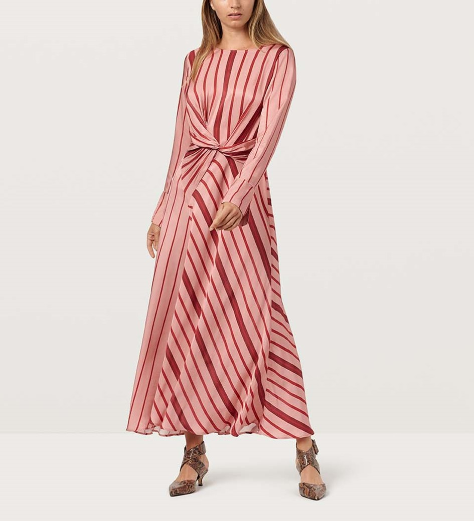 Akari Pink Striped Dress