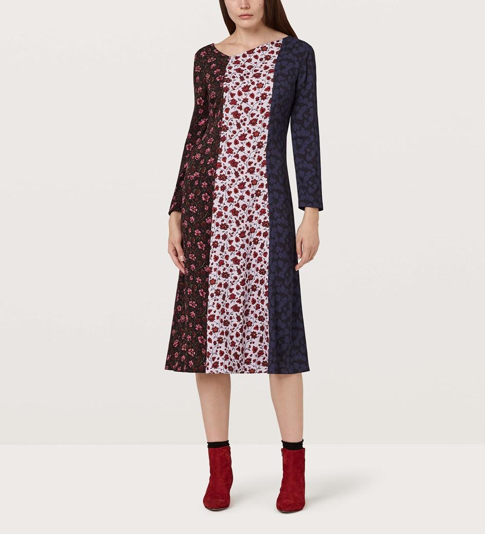 Anna Multi-Print Midi Dress