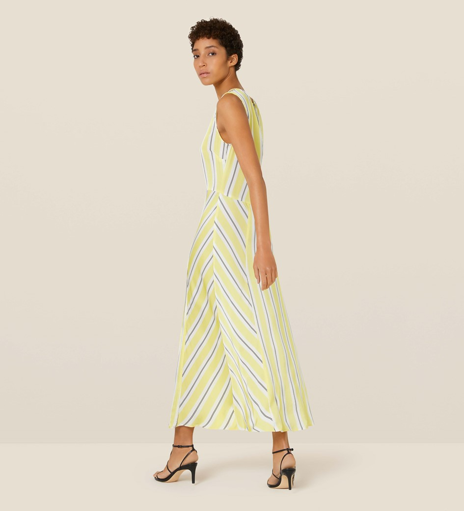Adalia Yellow Striped Dress