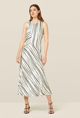 Maeve Monochrome Striped Dress