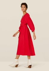 Nadine Red Full Sleeve Dress