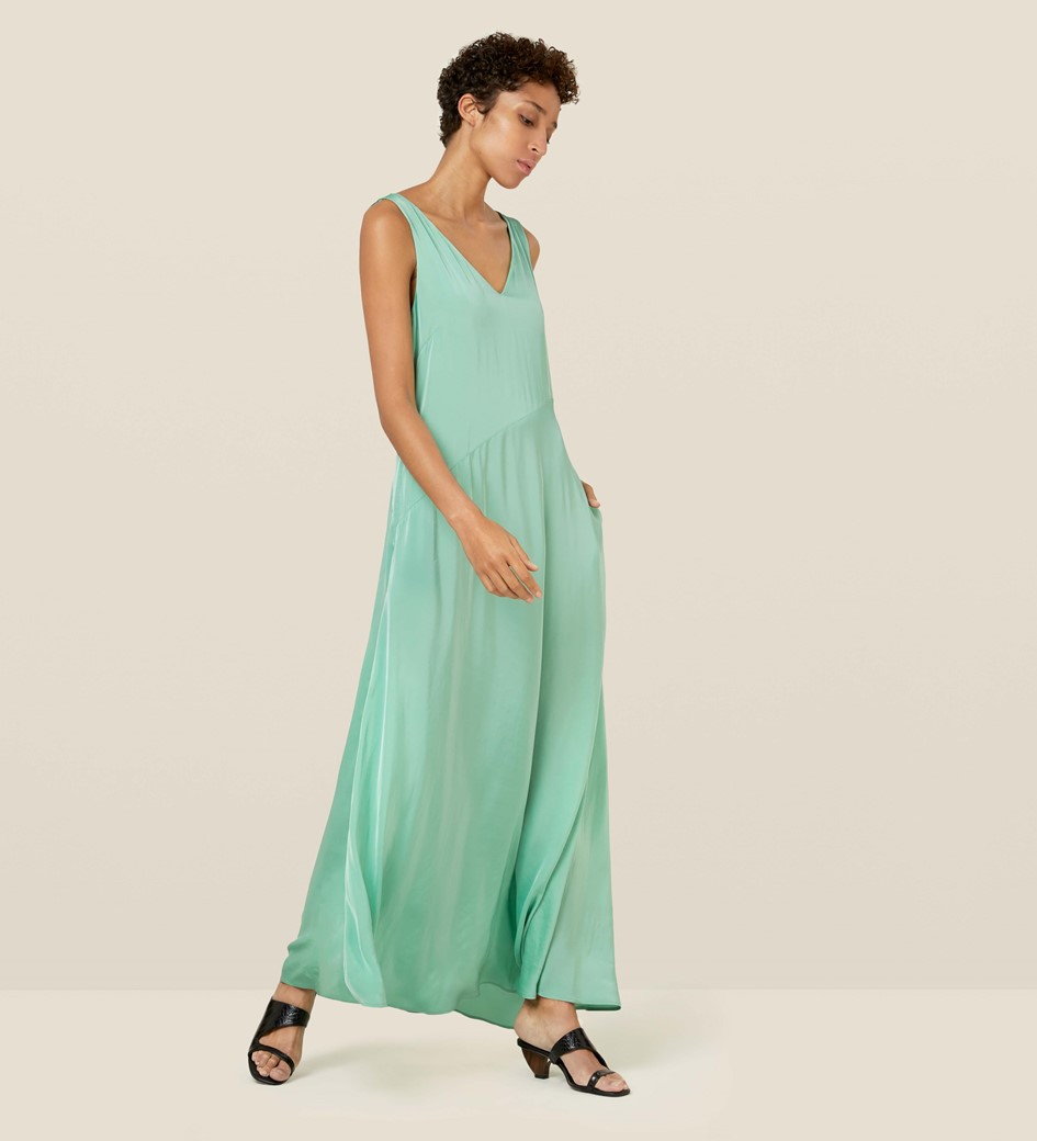 Katrina Satin Maxi Dress