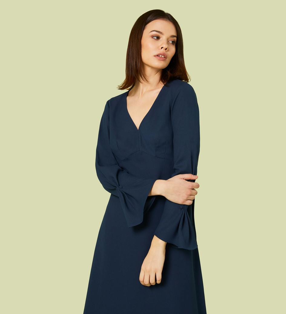 Lykke Flared Sleeve Midi Dress