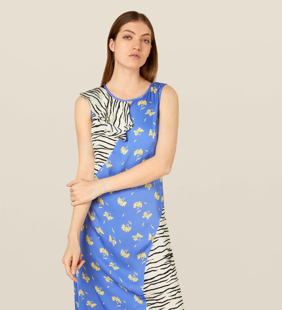 Allana Mixed Print Dress