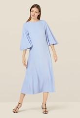 Nadia Cornflower Blue Full Sleeve Dress