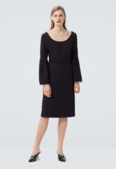 Elgin Dress with Flute Sleeves