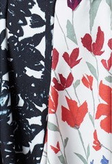 Fenmore Charcoal Flora And Wild Flowers Print Dress