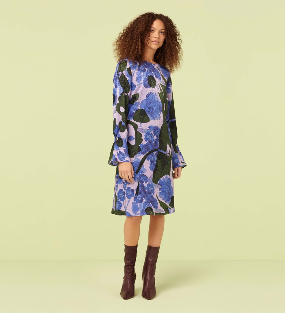 Jessi Woodblock Print Shift Dress