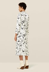Jules Monochrome Floral Dress