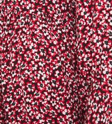 Bella Midi Red Ditsy Dress