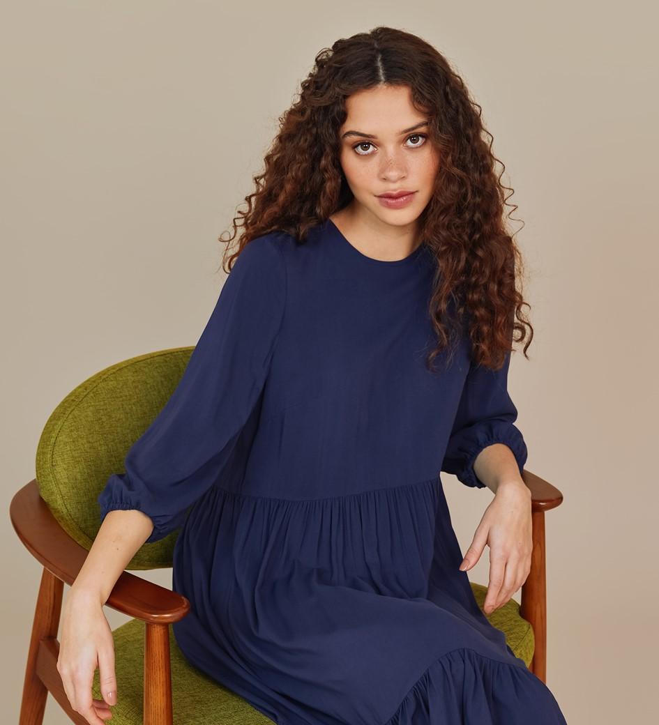 Alyssa Navy Midi Dress
