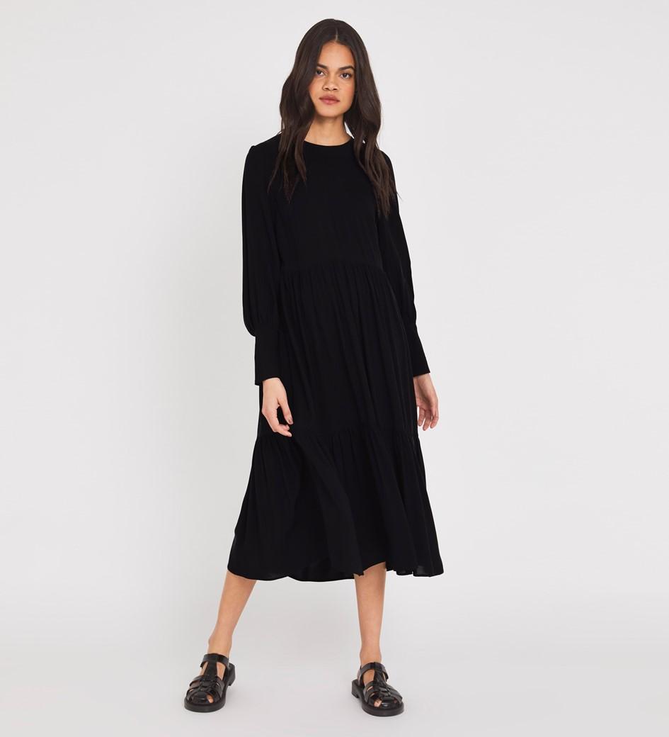 Bella Midi Black Dress