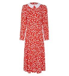 Piper Midi Red Floral Dress