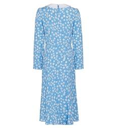 Piper Midi Blue Floral Dress