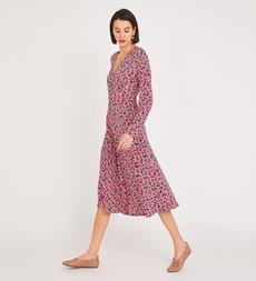 Lilly Midi Red Ditsy Dress