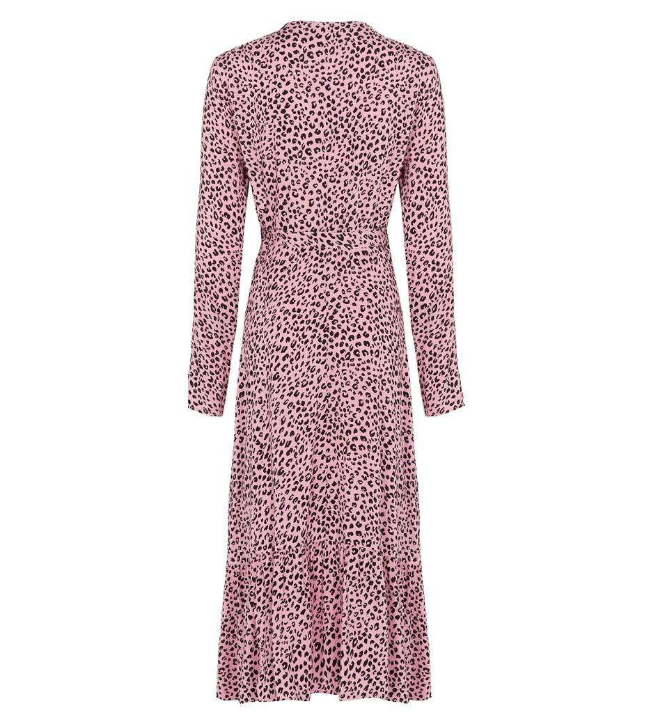 Imani Midi Pink Leopard Dress