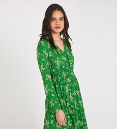Quinn Midi Green Ditsy Dress
