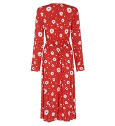 Quinn Midi Red Floral Dress