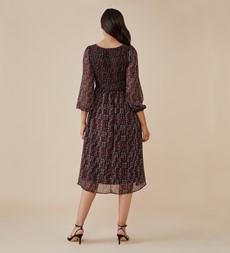 Melanie Midi Red Tribal Dress