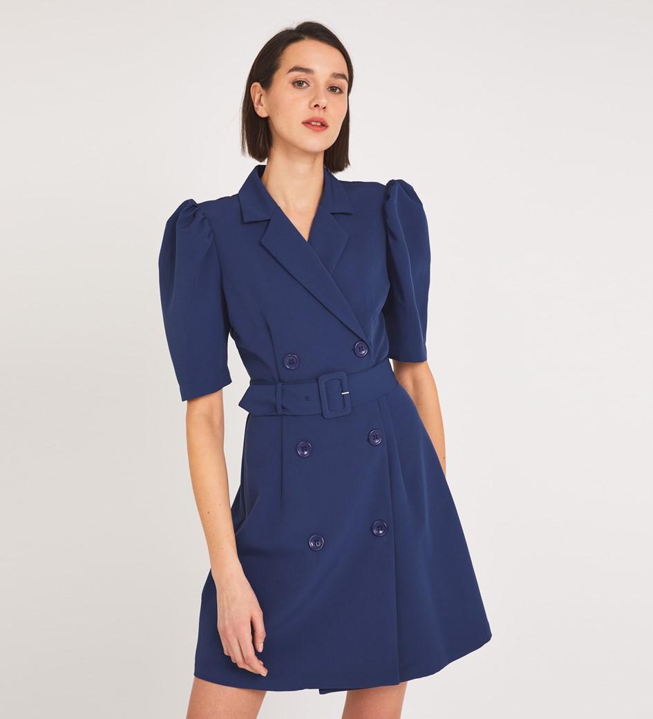 Sylvie Mini Navy Dress