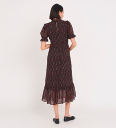 Camille Midi Red Tribal Dress