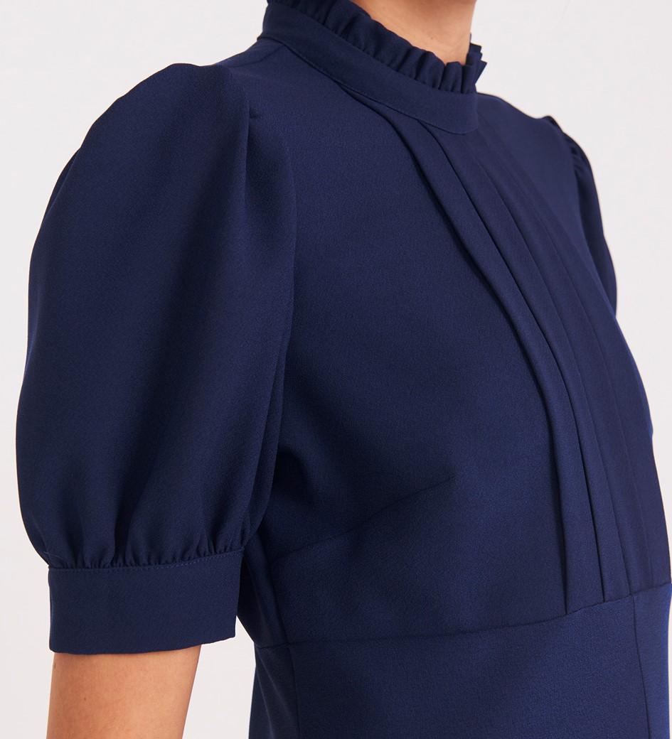 Larisa Knee Length Navy Dress