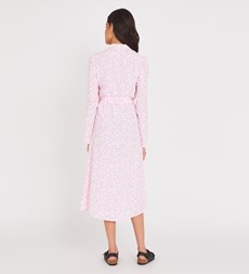 Willow Midi Pink Leaves Dress