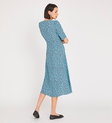 Fayre Midi Blue Floral Dress