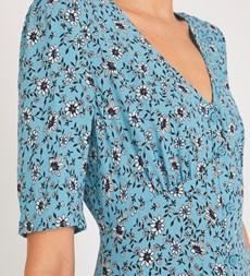 Fayre Midi Blue Floral Dress