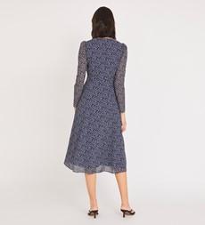 Hanna Midi Blue Floral Dress