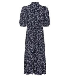 Kyra Midi Navy Peace Dress