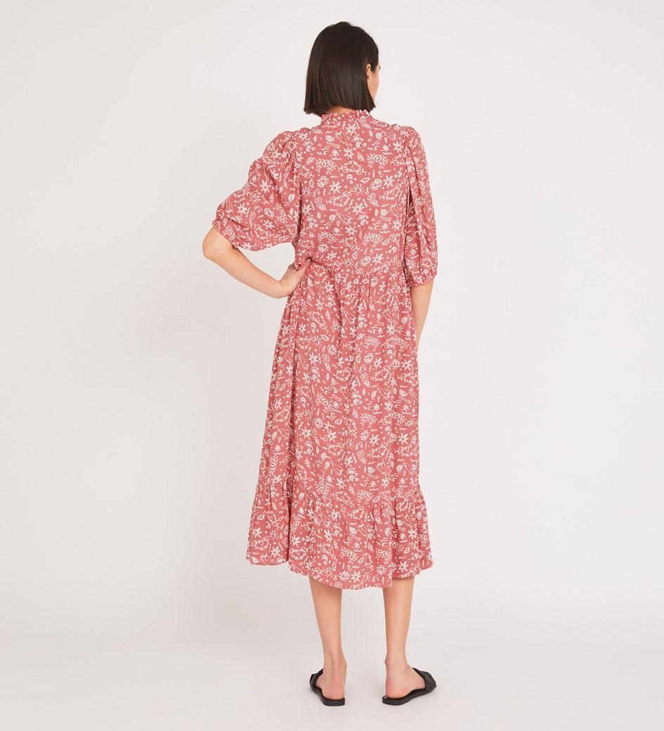 Kyra Midi Pink Peace Dress