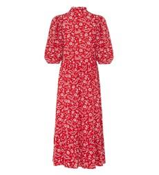 Kyra Midi Red Peace Dress