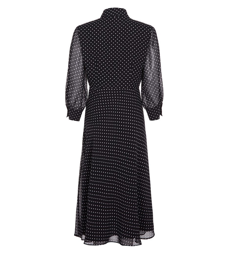 Martha Midi Black Spot Dress