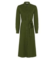 Tashia Midi Khaki Dress Linen Rich
