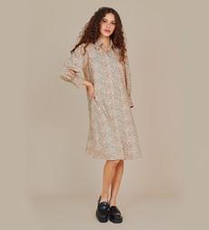 Janine Knee Length Green Floral Dress