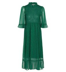 Jayda Midi Green Leaves Dress