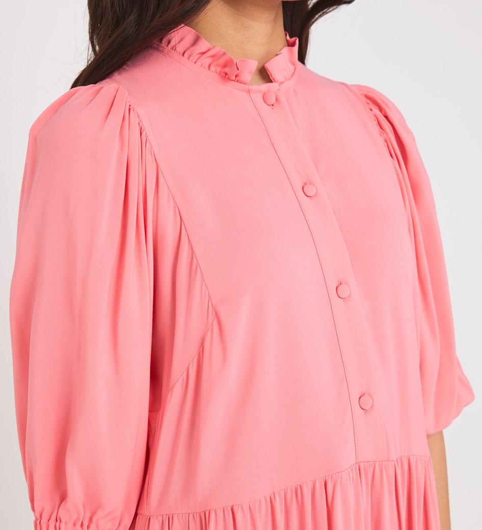 Kyra Midi Coral Dress