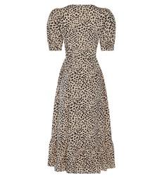 Ari Midi Black Leopard Dress