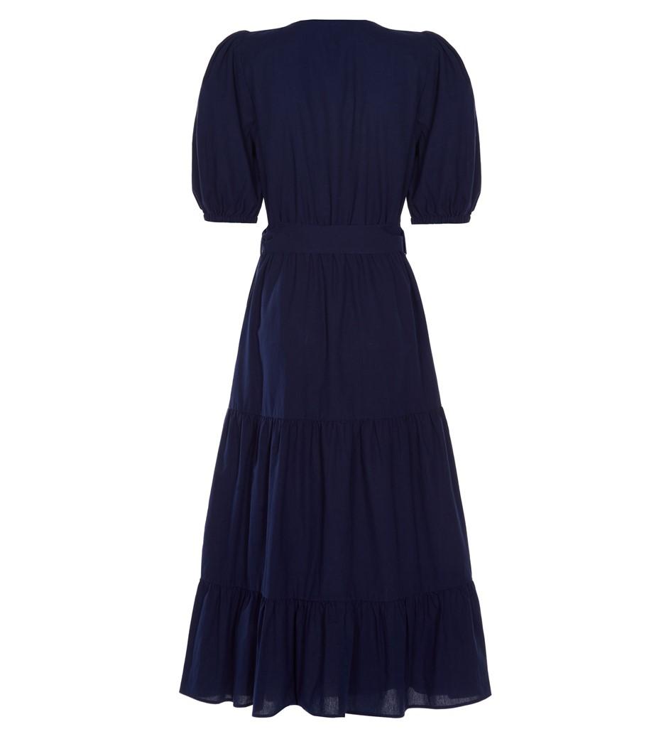 Aila Midi Navy Dress