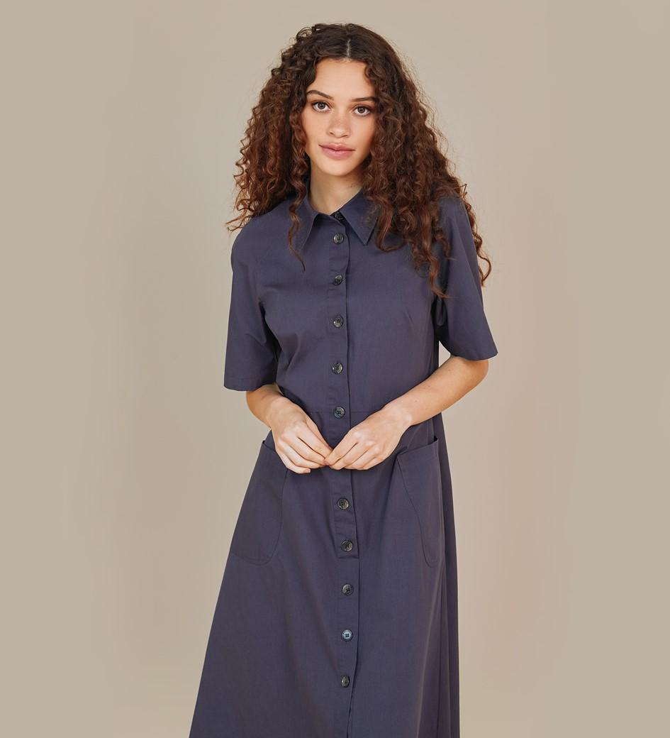 Maison Midi Navy Dress