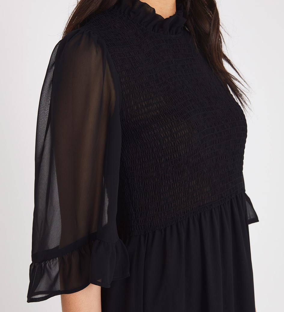 Jayda Black Midi Dress