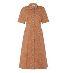 Maison Leopard Print Midi Dress