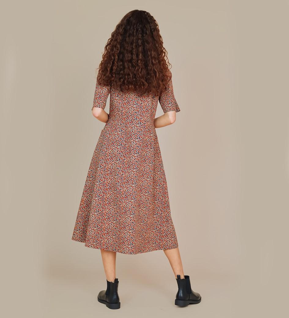 Maison Brown Ditsy Midi Dress