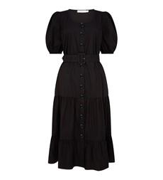 Aila Midi Black Dress